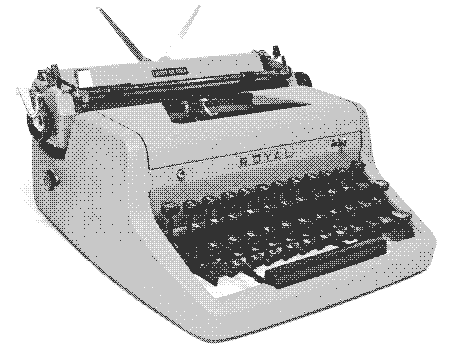 image royal typewriter